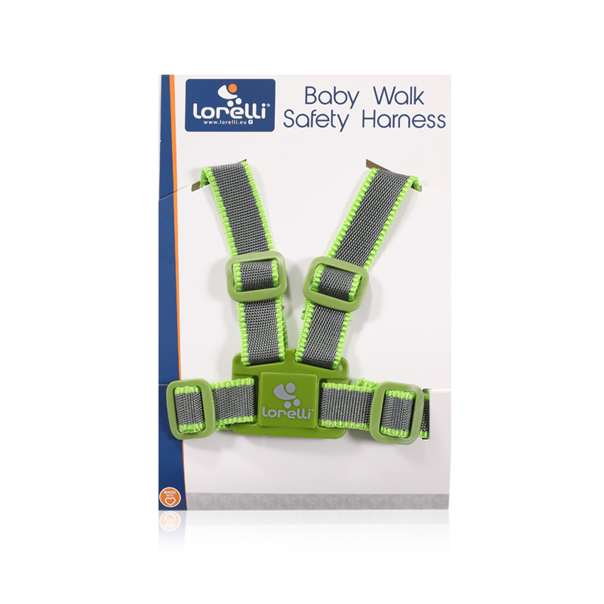 BABY WALK SAFETY HARNESS GREY&GREEN