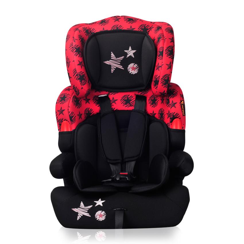 Autosedačka KIDDY 9-36 KG BLACK&RED STARS