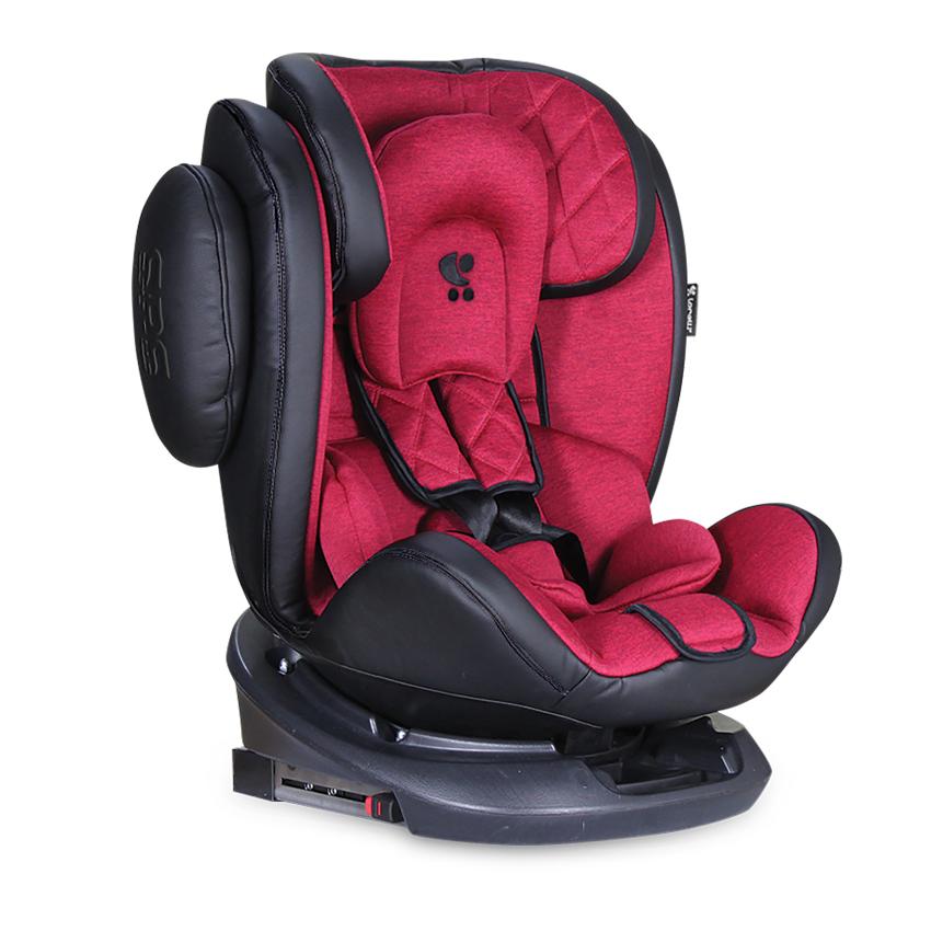 Autosedačka AVIATOR ISOFIX 0-36KG BLACK + RED