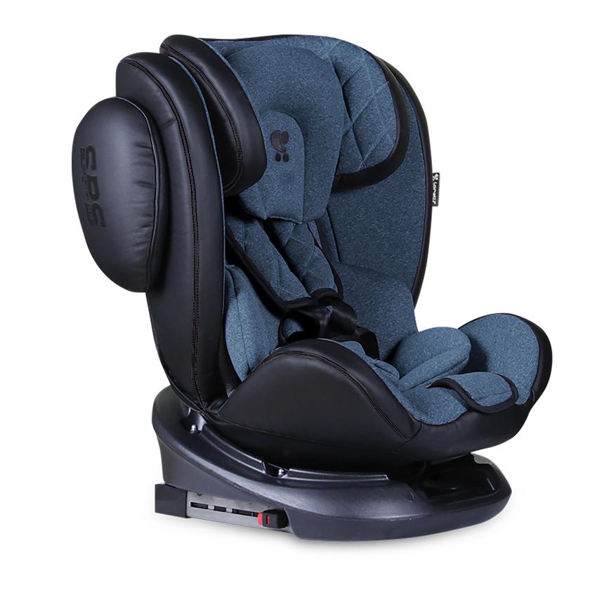 Autosedačka AVIATOR ISOFIX 0-36KG BLACK + BLUE