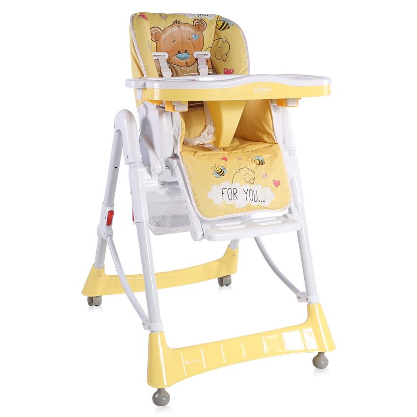 Jídelní židlička PRIMO YELLOW BEAR