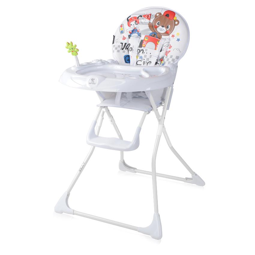 Jídelní židlička JOLLY WHITE RACING FRIENDS