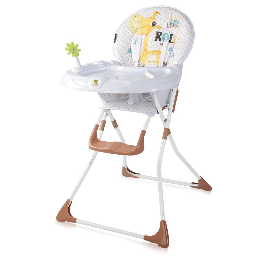 Jídelní židlička JOLLY WHITE&BEIGE GIRAFFE