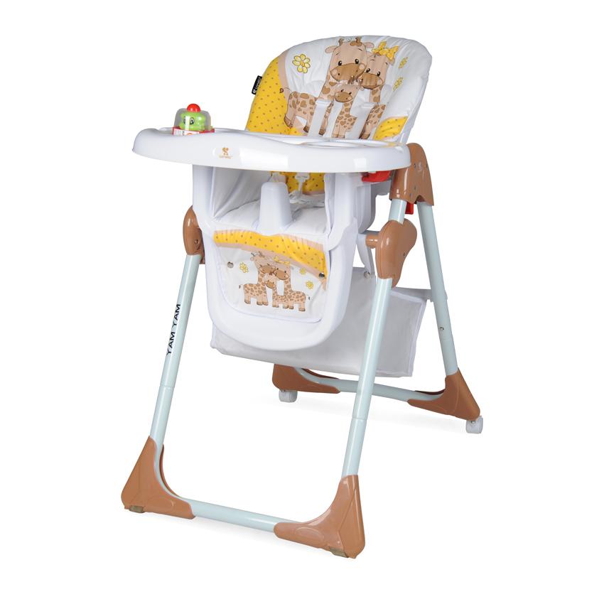 Jídelní židlička YAM YAM BEIGE&YELLOW HAPPY FAMILY