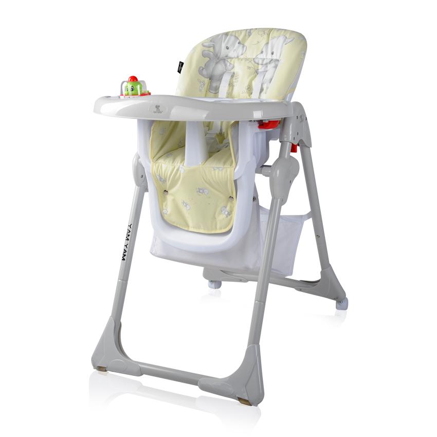 Jídelní židlička YAM YAM YELLOW HAPPY HIPPO