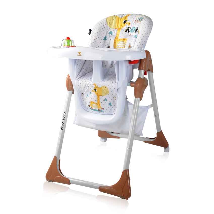 Jídelní židlička YAM YAM WHITE&BEIGE GIRAFFE