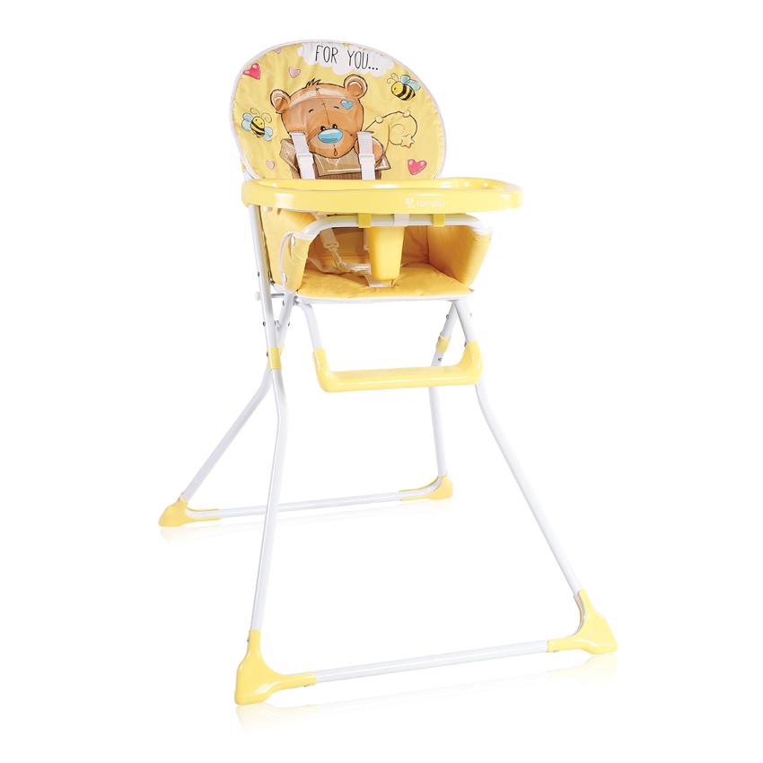 Jídelní židlička COOKIE YELLOW BEAR