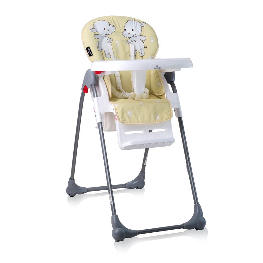 Jídelní židlička OLIVER YELLOW HAPPY HIPPO
