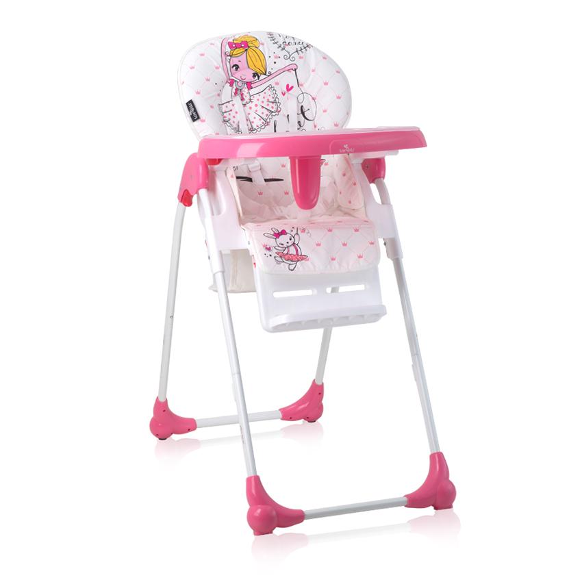 Jídelní židlička OLIVER PINK BALLET