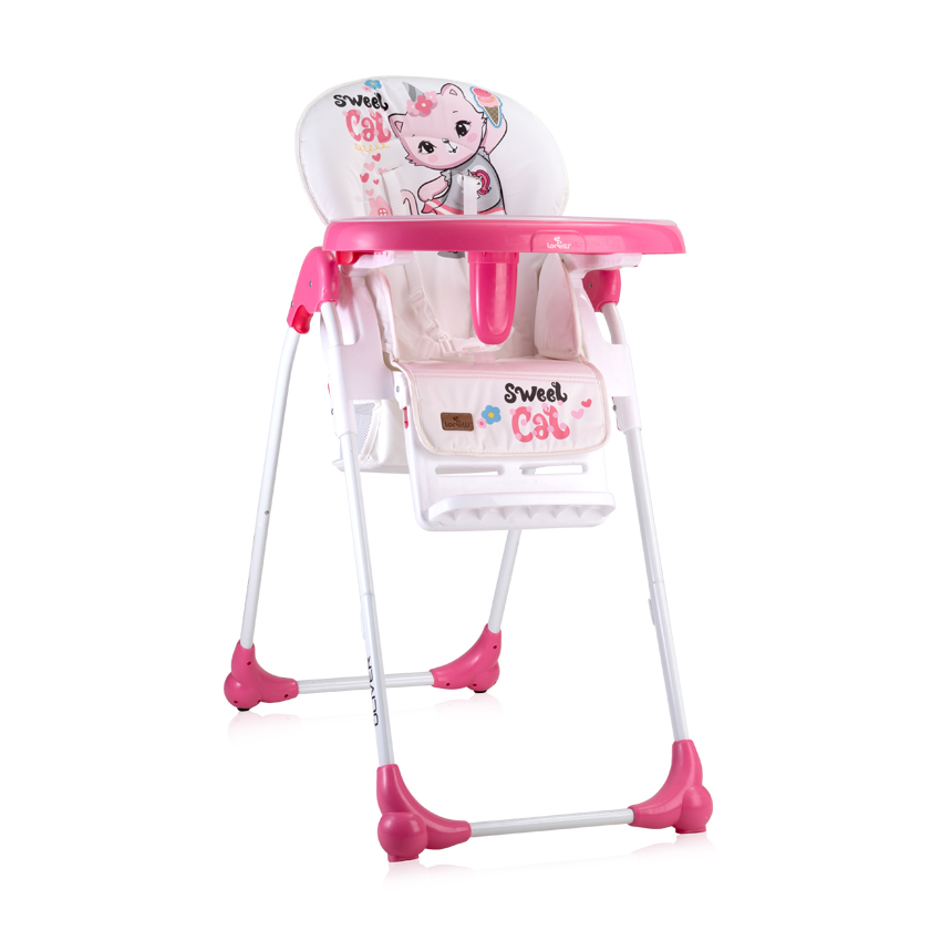 FEEDING CHAIR OLIVER PINK CAT