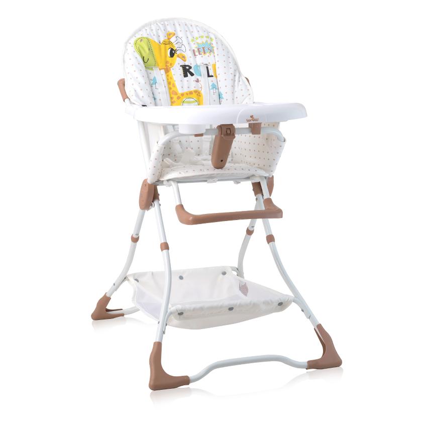 Jídelní židlička BONBON BEIGE&WHITE GIRAFFE