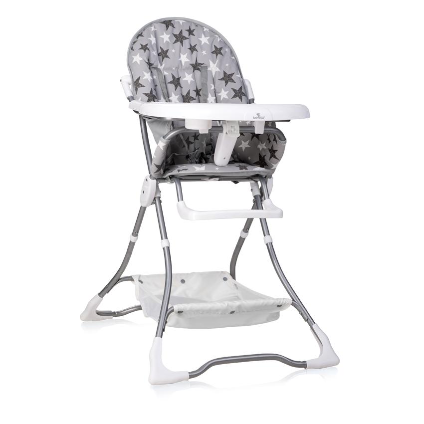 Jídelní židlička BONBON GREY STARS