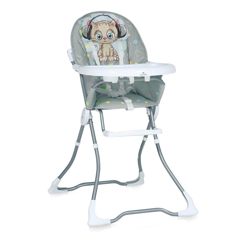 Jídelní židlička MARCEL GREY CUTE KITTEN