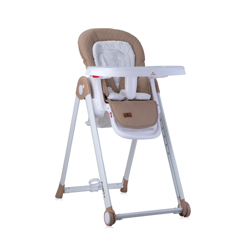 HIGH CHAIR PARTY BEIGE PU LEATHER