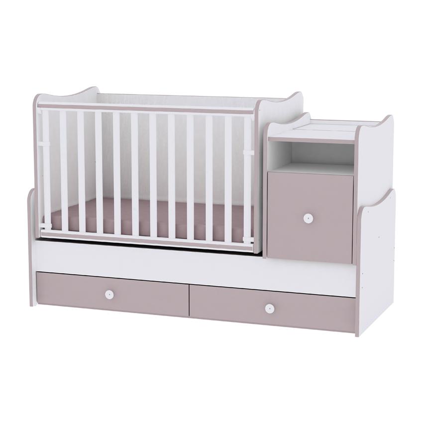 Dětská postýlka TREND PLUS NEW COLOUR WHITE/CAPPUCCINO