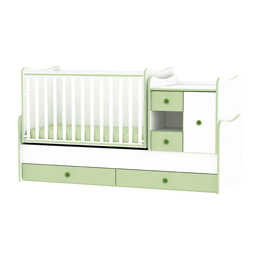 lit b b volutif combin transformable mini max vert ebay. Black Bedroom Furniture Sets. Home Design Ideas