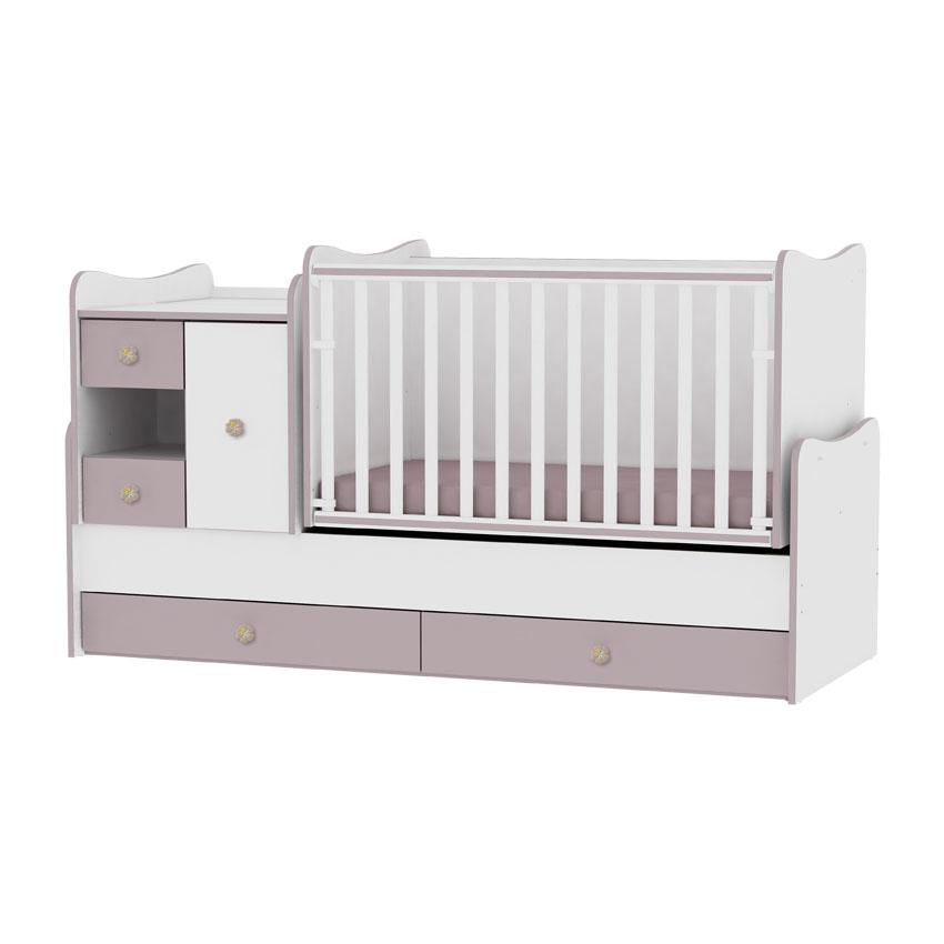 lit b b volutif combin transformable mini max cappucino. Black Bedroom Furniture Sets. Home Design Ideas