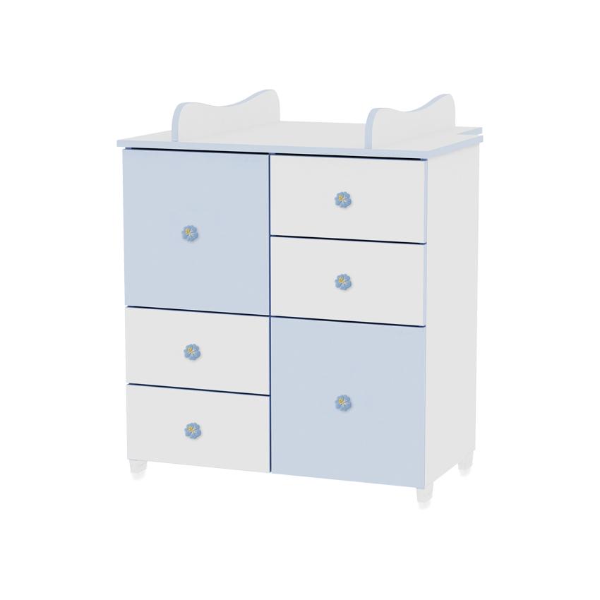 Skříňka WHITE/BLUE