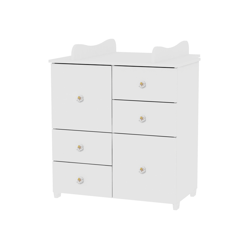 commode avec plan langer chambre b b enfant blanc ebay. Black Bedroom Furniture Sets. Home Design Ideas