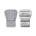 2 faced soft cushion Grey&Beige Cities
