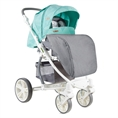 Combi Stroller S700 with footcover Green&Grey Cities