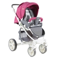 Combi Stroller S700 with summer basket Rose&Grey Cities