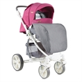 Combi Stroller S700 with footcover Rose&Grey Cities