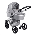 Combi Stroller RIMINI with newborn basket GREY