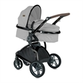 Combi Stroller LUMINA SET with newborn basket GREY