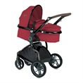 Combi Stroller LUMINA SET with newborn basket RED