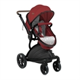 Combi Stroller LUMINA SET with summer basket RED
