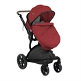 Combi Stroller LUMINA SET with footcover RED