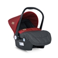 Car Seat with footcover LIFESAVER Black&Red
