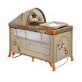 Baby Cot BABY NANNY 2 Layers Plus Rocker Beige Safari Tours