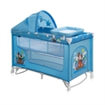 Baby Cot BABY NANNY 2 Layers Plus Rocker Blue Adventure