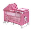 Baby Cot BABY NANNY 2 Layers Plus Rocker Pink Kitten