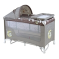 Baby Cot BABY NANNY 2 Layers Plus Rocker Beige Buho
