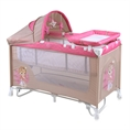 Baby Cot BABY NANNY 2 Layers Plus Rocker Beige&Rose Princess